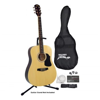 Pyle Professional Full Size Acoustic Guitar Package with Accessories