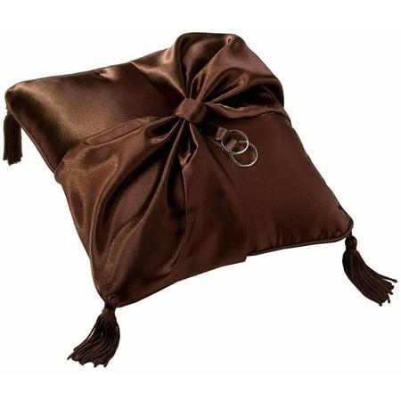 Lillian Rose Ring Bearer Pillow, Brown