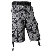 Ma Croix Mens Twill Cargo Shorts with Belt Loose Fit Multi Pocket Cotton Camouflage Outdoor Utility Wear