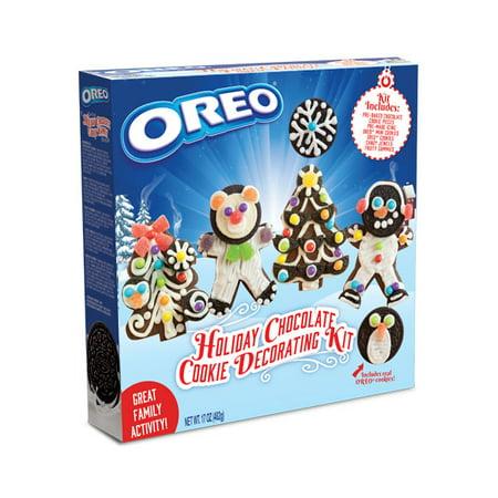 Christmas Cookie Decorating Kit.Oreo Holiday Chocolate Cookie Decorating Kit 17 Oz