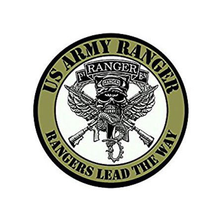 Power Rangers Sticker (Round 1ST BATTALION - Rangers Lead The Way Sticker Decal (army bn logo) Size: 4 x 4 inch)