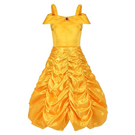 Menu Halloween Dinner Party (Girls Layered Princess Costume Halloween Cosplay Dress up Party Off Shoulder Outfits Kids Evening Gowns)