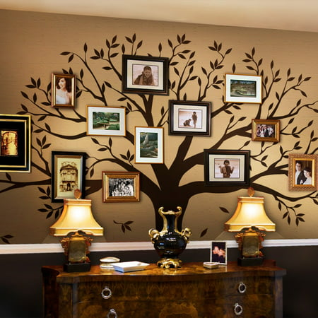 Family Tree Wall Decal - Brown - 107 w x 90 h inches - (Family Tree Wall)