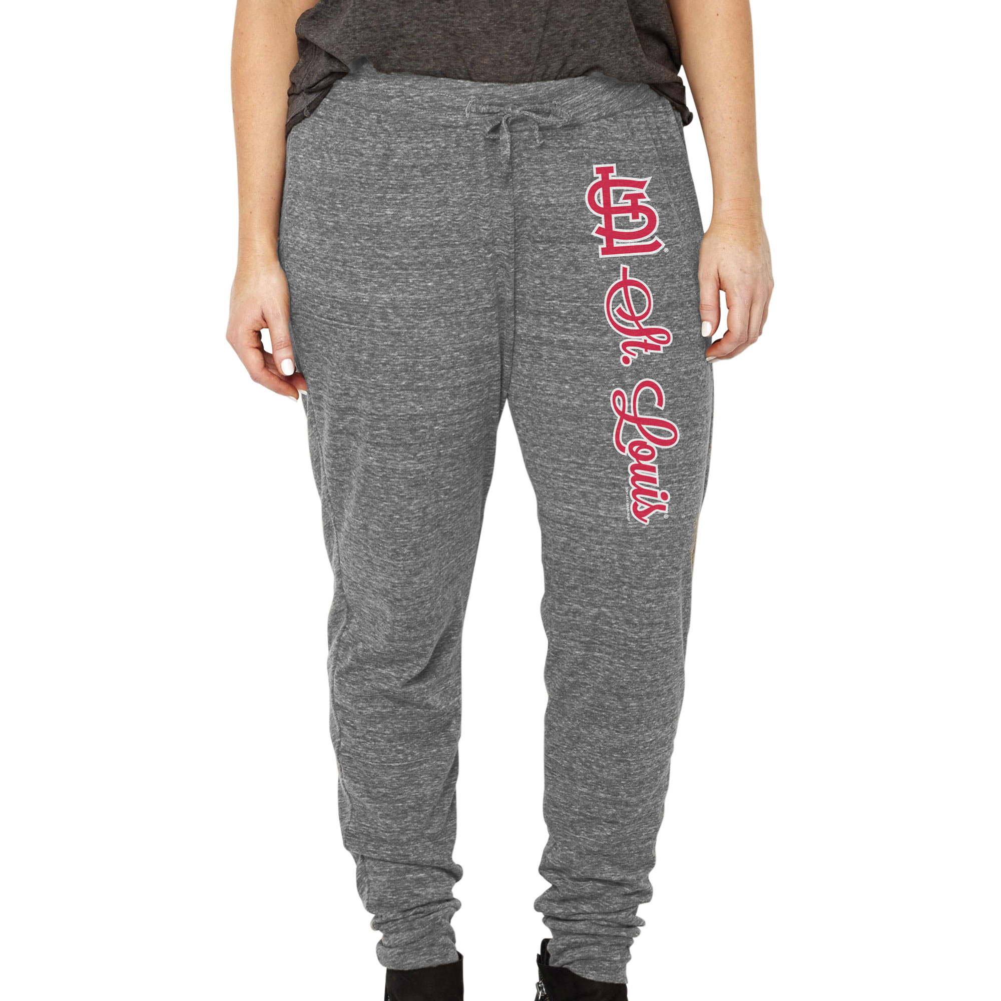 St. Louis Cardinals Soft as a Grape Women's Plus Size Jogger Pants - Heathered Gray