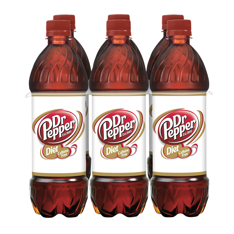 Caffeine Free Diet Dr Pepper, 24 Fl Oz, 6 Pack