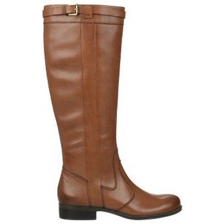 866e3aef1109 Naturalizer - Womens Josephine Leather Wide Calf Riding Boots - Walmart.com