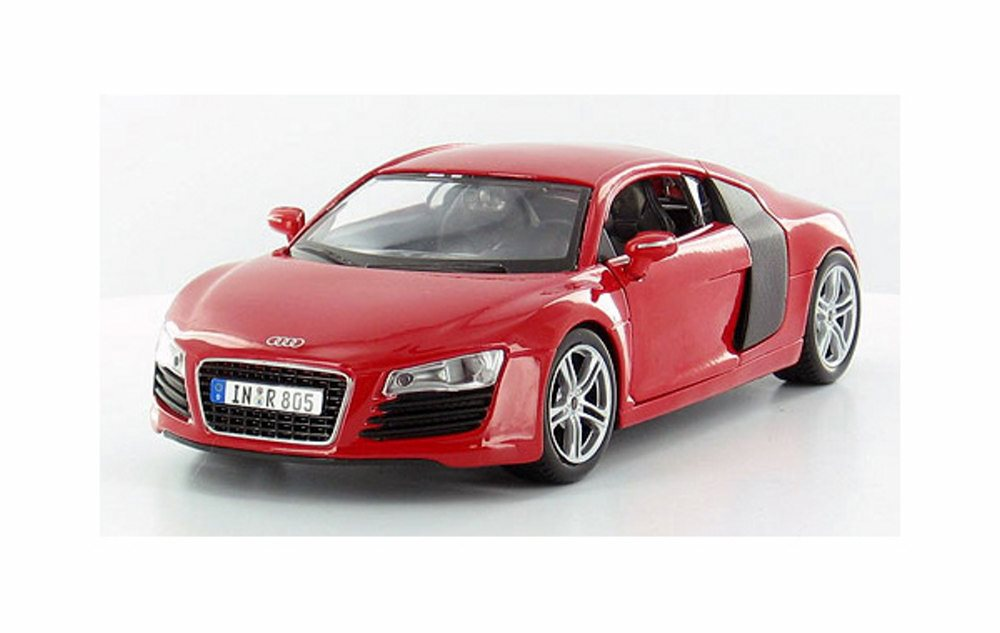 Audi R8 Hard Top, Red Maisto 31281R 1 24 Scale Diecast Model Toy Car by Maisto