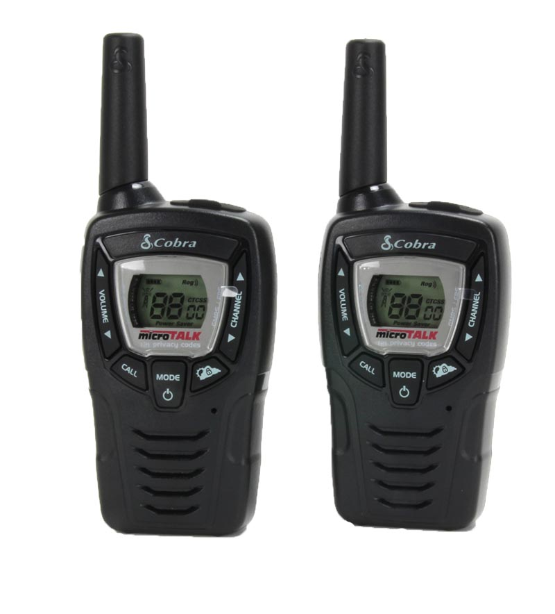 (2) COBRA CX312 23 Mile 22 Channel FRS GMRS Walkie Talkie 2-Way Radios w  VOX by Cobra