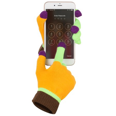 Touch Screen Gloves, Fosmon Unisex Winter Touch Scren Gloves [Three Conductive Fingertips] for iPhone, iPad, Samsung, LG, Nokia Smartphones, Tablets & Smartwatch - - Gloves With Lights On Fingertips
