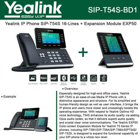 Yealink Sip T54s Ip Phone Smart Media Linux Hd   Expansion Module Exp50