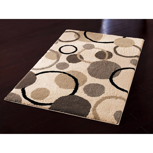 Orian Gumball Beige Fleece Area Rug