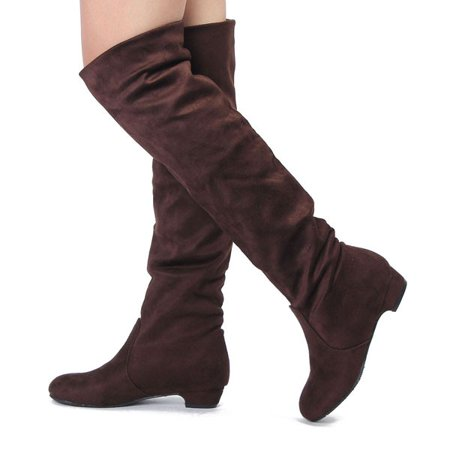 42f76bd4e85 Meigar - New Women Thigh High Heel Over Knee Suede Stretch Slouch ...
