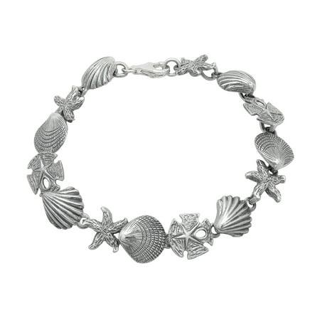 Seashell Bracelet in Sterling Silver