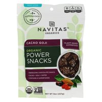 Navitas Naturals Snacks, Organic, Power, Cacao Goji, 8 Oz, 8 Oz, Pack Of 12
