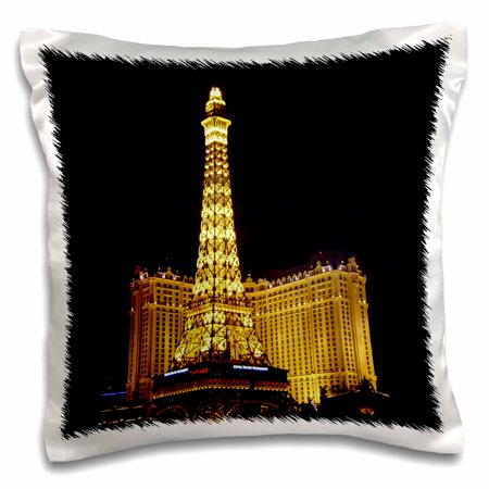 3dRose Paris Hotel Casino in Las Vegas NV - Pillow Case, 16 by 16-inch ()