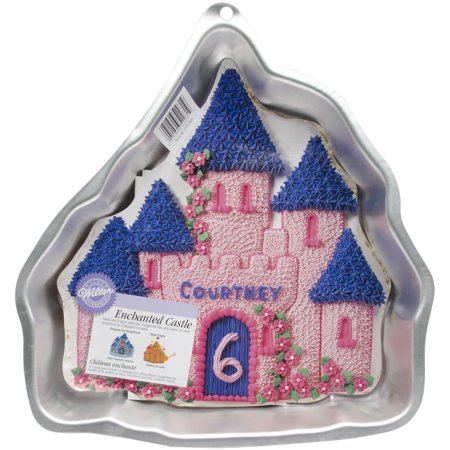 Wilton Silver Aluminum Enchanted Castle Shape Kitchen Cake Pan Baking Tin Mold