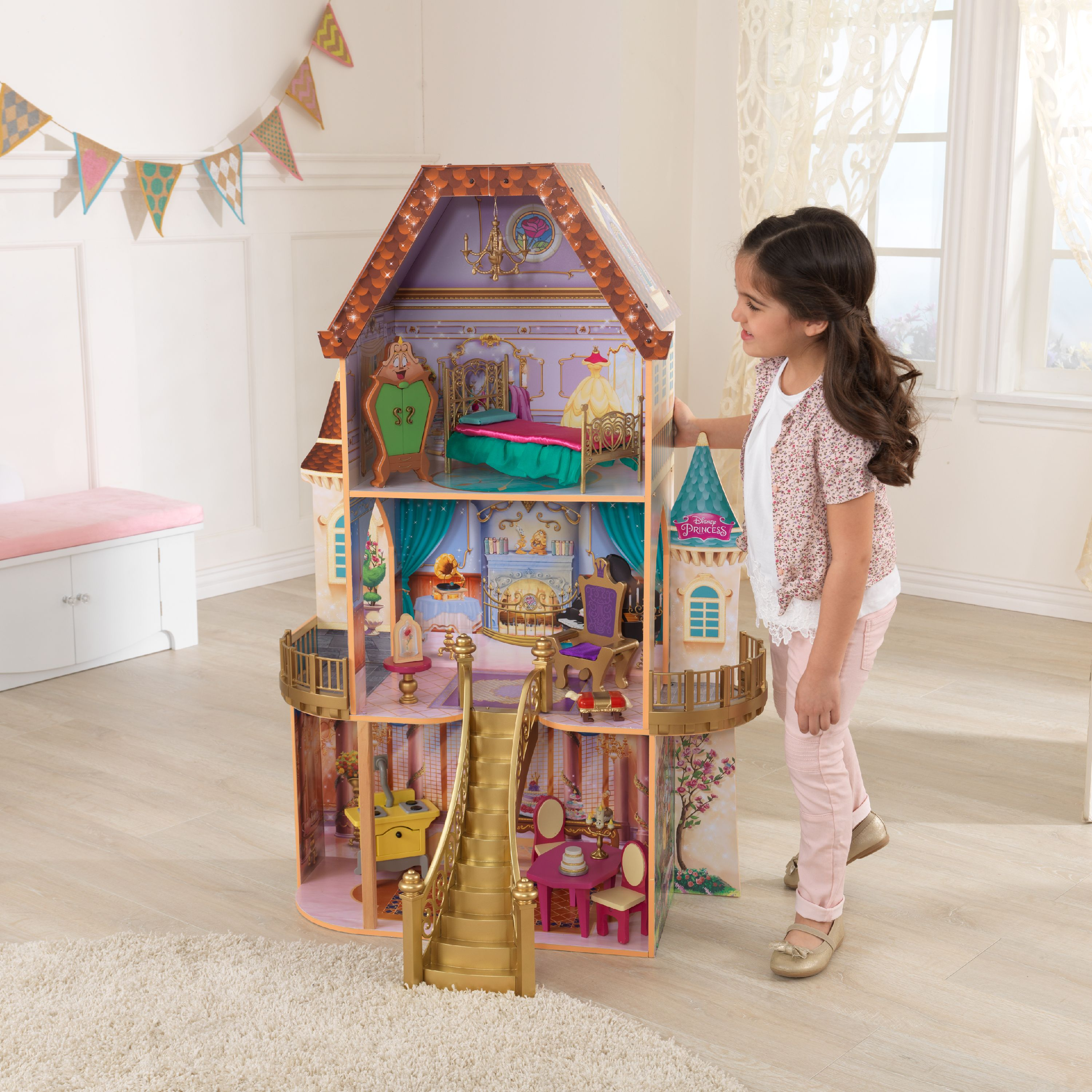 Disney Princess Belle Enchanted Dollhouse with 13 Accessories by KidKraft by KidKraft