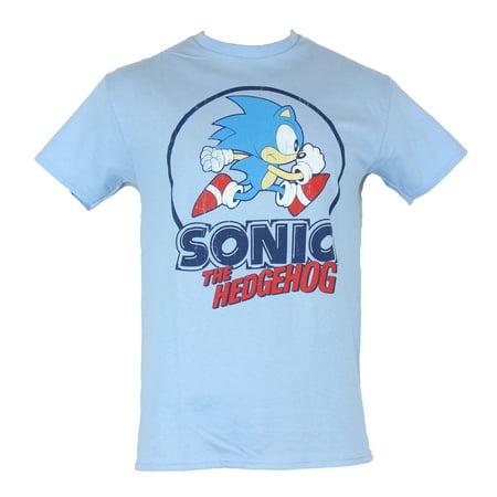 In My Parents Basement Sonic The Hedgehog Mens T Shirt Distressed Classic Running Circle Logo Image Walmart Com Walmart Com