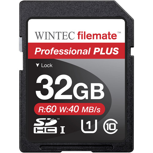 Wintec Filemate Professional Plus 32GB SDHC UHS-1 Memory Card Class 10