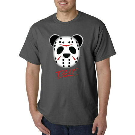 New Way 623 - Unisex T-Shirt Tgif Panda Mask Jason Friday 13Th - Halloween Friday Tgif