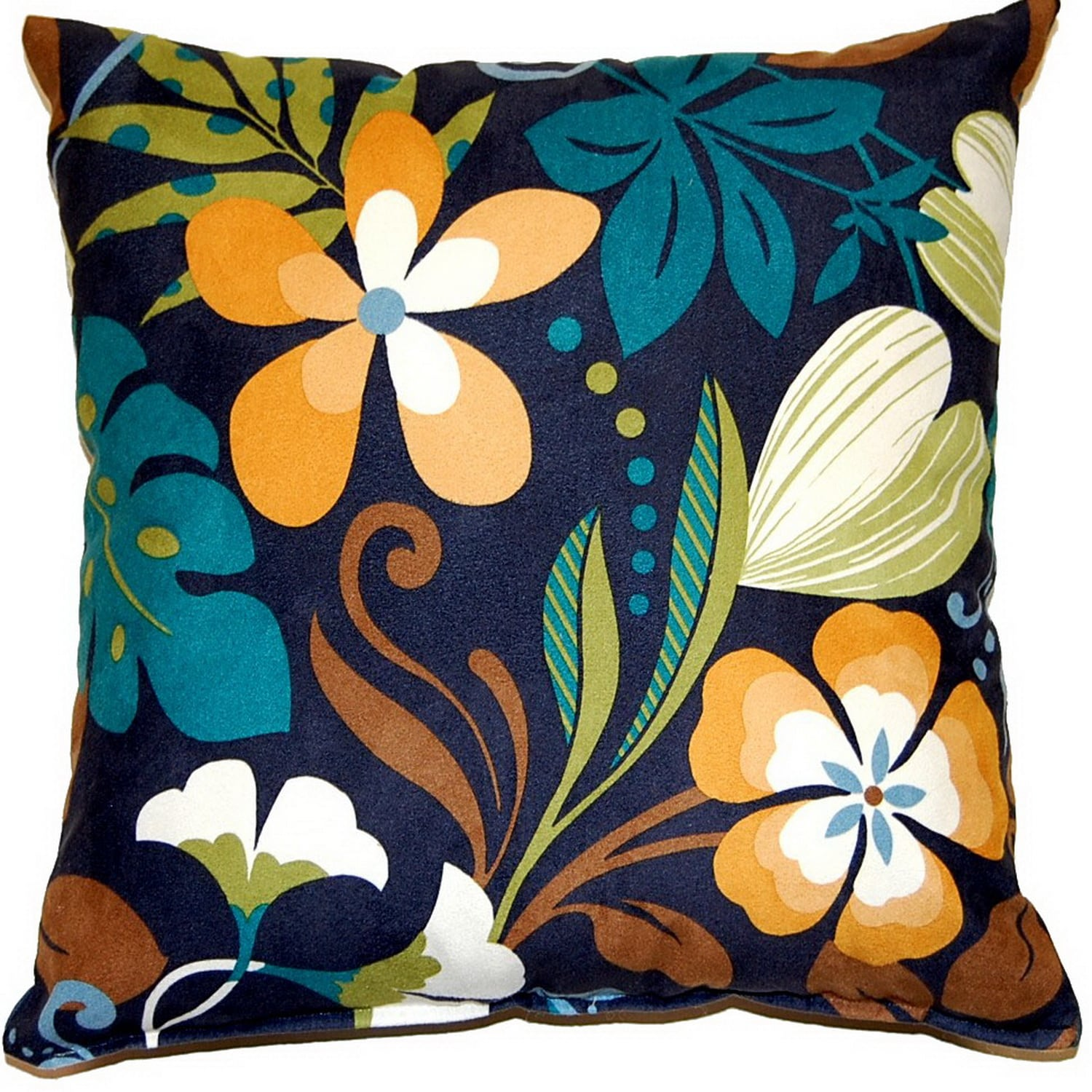Fox Hill Trading Funfloral Marine 17-inch Throw Pillows (Set of 2)
