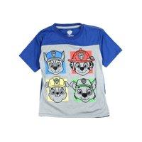 Paw Patrol Little Boys' Colorblock Tee, Gray/Blue