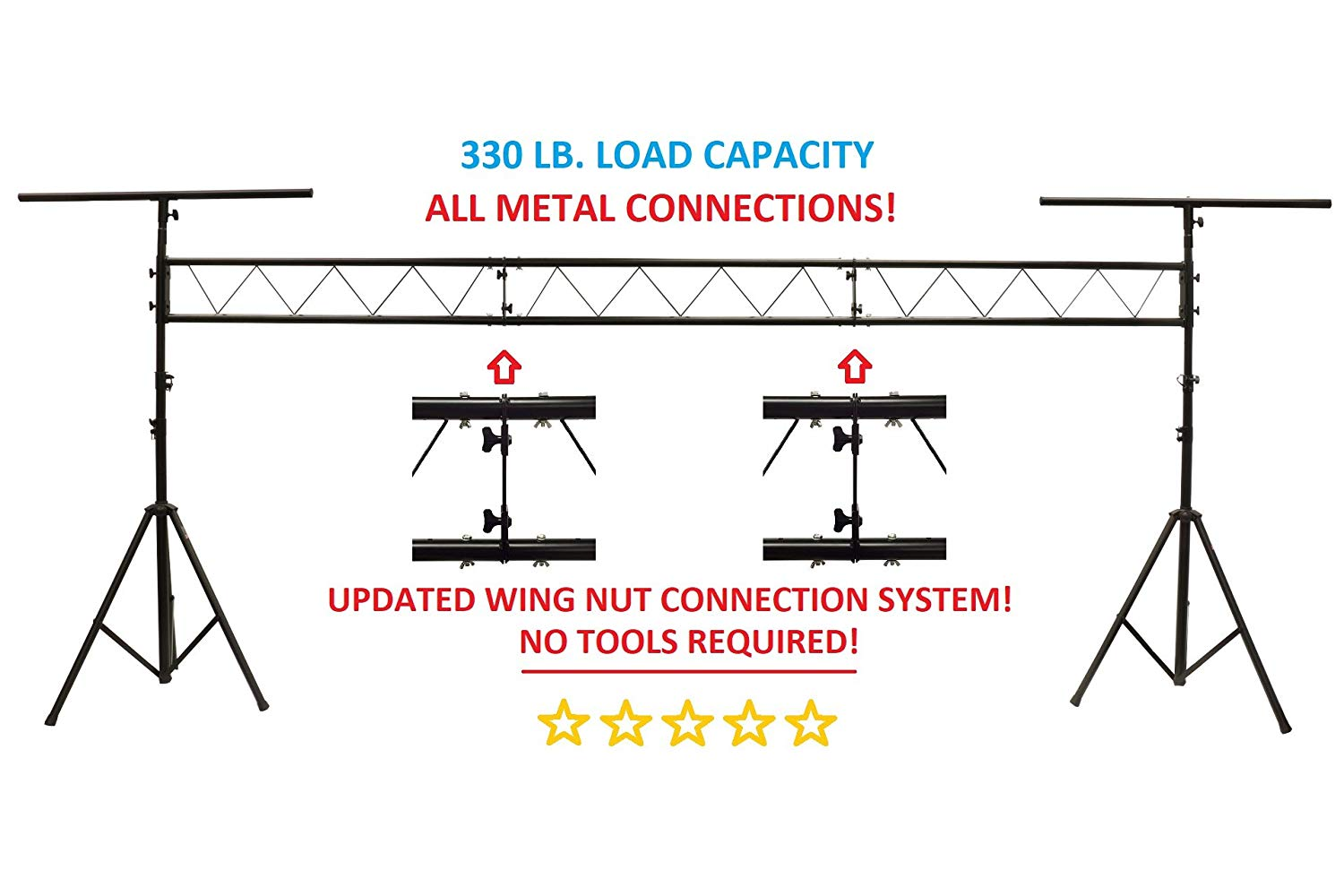 Dj Lighting Diagram Electrical Wiring Diagrams 5a Cedarslink 15ft Portable Truss Stand W T Bar Trussing Animated Lights Source