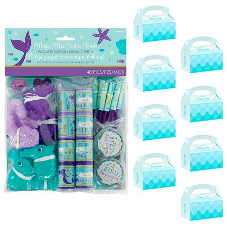 Mermaid Party Supplies Favor Box Kit for 8 - Mermaid Supplies