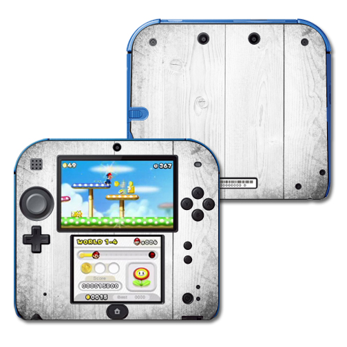 Mightyskins Protective Vinyl Skin Decal Cover for Nintendo 2DS wrap sticker skins White Wood