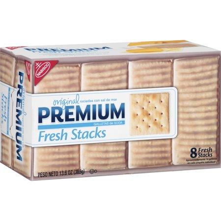 Nabisco Premium Original Fresh Stacks Saltine Crackers Topped with Sea ...