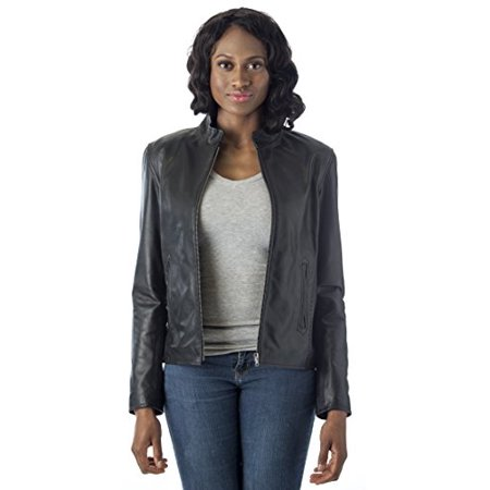 REED Leather Women&39s Moto Leather Fashion Jacket - Genuine Leather