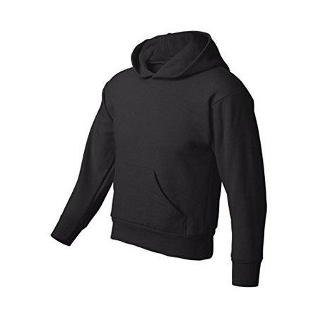 Hanes P473 Youth Comfortblend Ecosmart Pullover Hood Sweatshirt, Black, Small - image 2 de 3