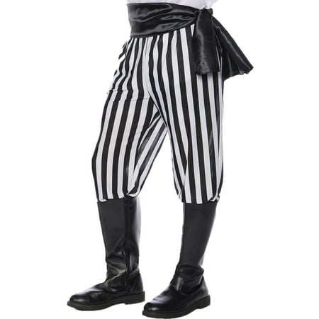 Black And White Costume (Black and White Pirate Pants Men's Adult Halloween)