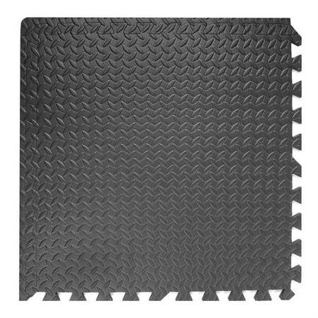 OUTAD Set of 24 pcs EVA Foam Floor Mat Exercise Gym Playground Black Mat