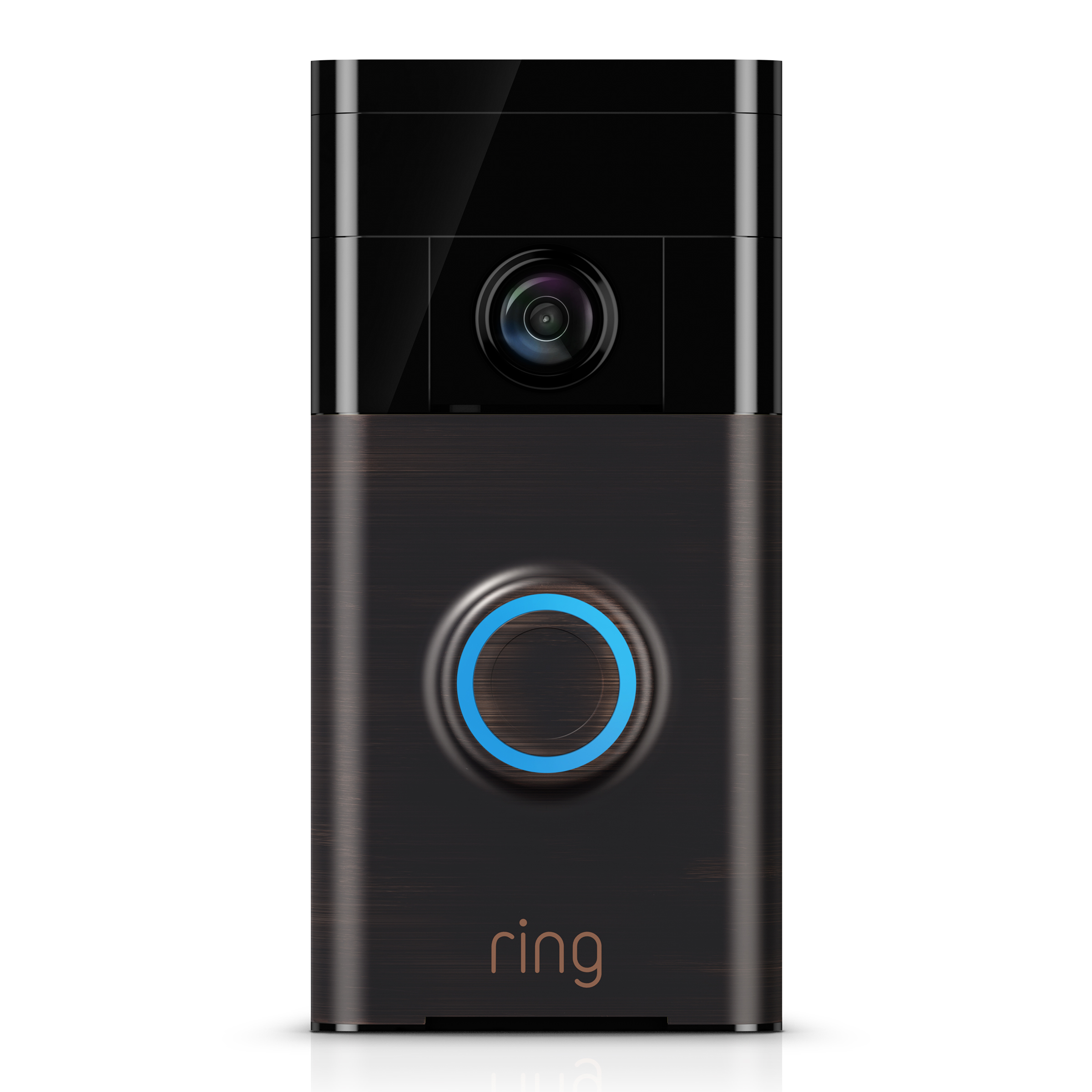 ring video doorbell in satin nickel - walmart