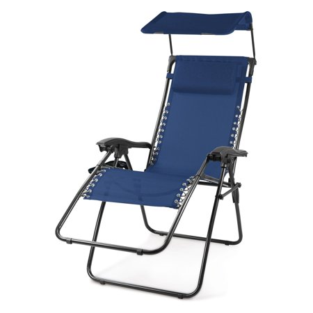 Oniva Serenity Reclining Lawn Chair With Sunshade