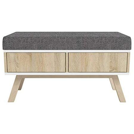Malmo Ii Scandinavian Style Bench With Drawers