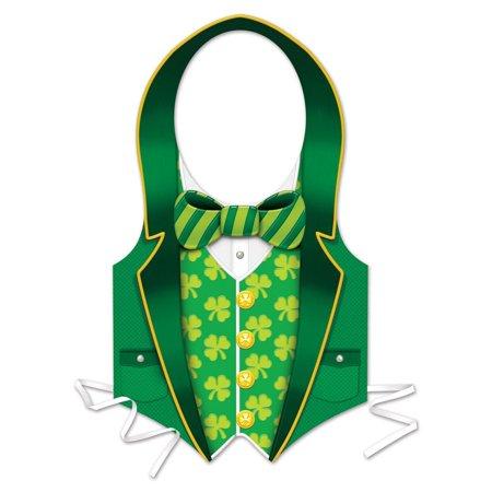 Plastic St Patrick Vest (24 count)