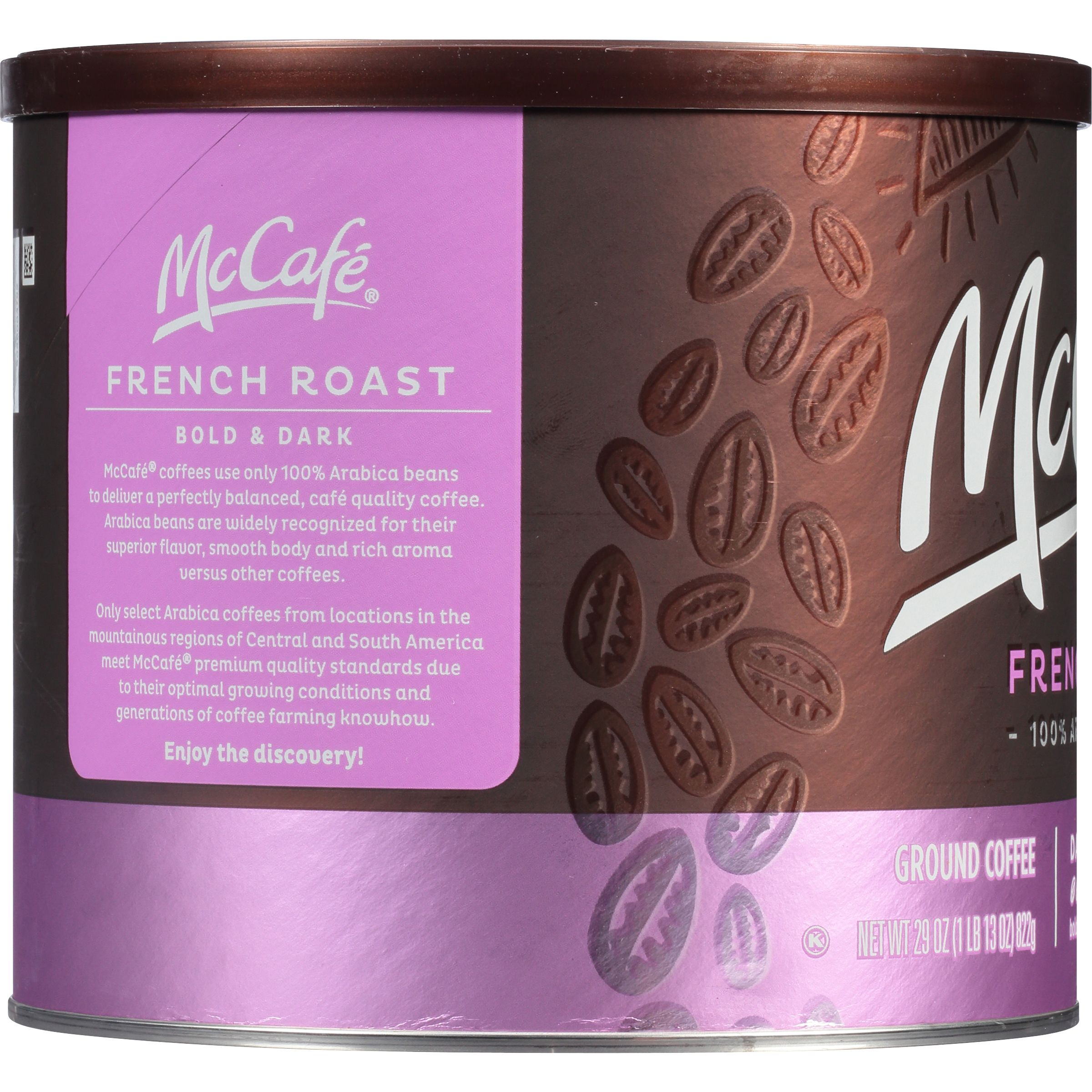 McCafe French Roast Ground Coffee, Caffeinated, 29 oz Can