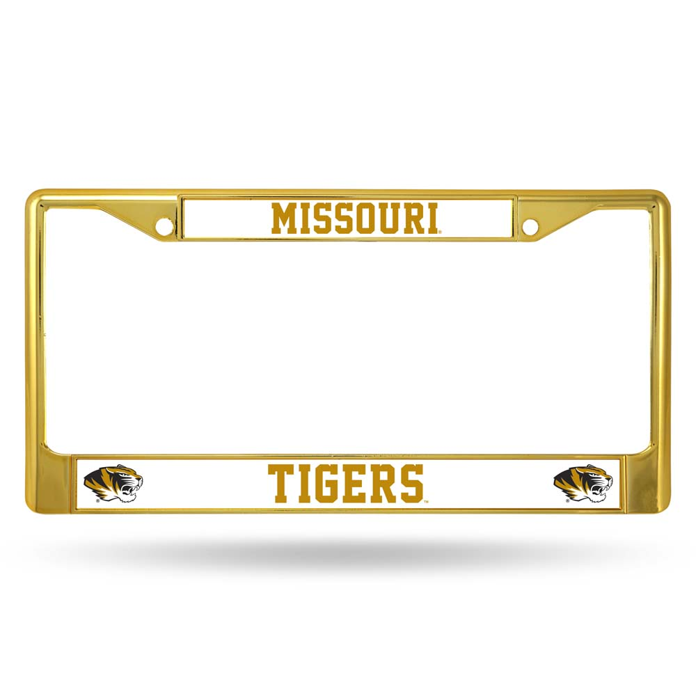 Missouri Tigers Metal License Plate Frame - Gold