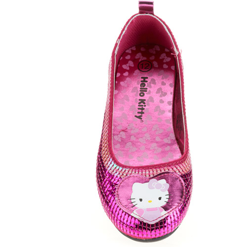 Hello Kitty Girls' Pink Treasure Sequin Mary Jane Flats