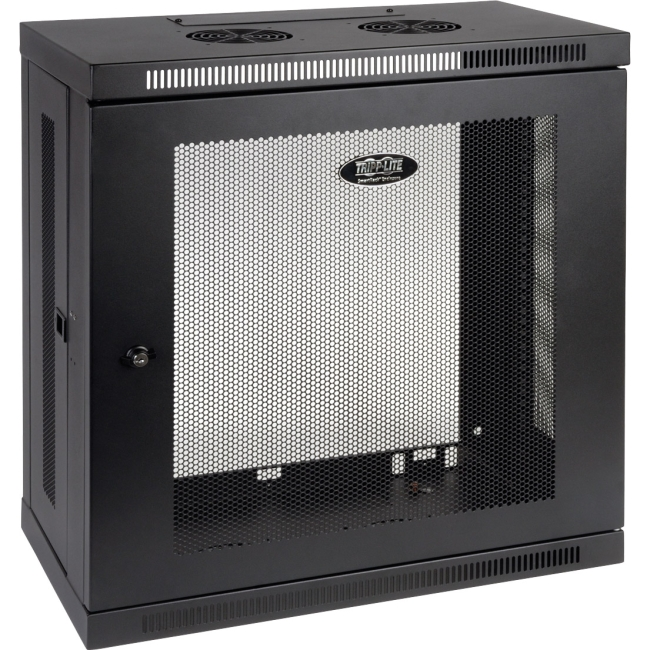 Tripp Lite SmartRack 12U Patch-Depth Wall-Mount Rack Enclosure Cabinet