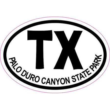 3 x 2 Oval TX Palo Duro Canyon State Park Texas Sticker Travel Hobby Decal (Hobby Lobby Victoria Tx)