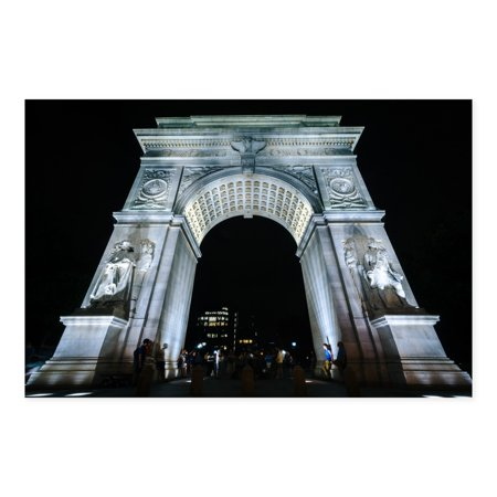 Washington Square Park (NOIR Gallery Washington Square Park Arch in New York Metal Wall)