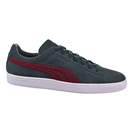 319b160b0b1 PUMA - Puma Suede Classic Terry Mens Shoes Green Gables Tibetan Red  363863-04 - Walmart.com