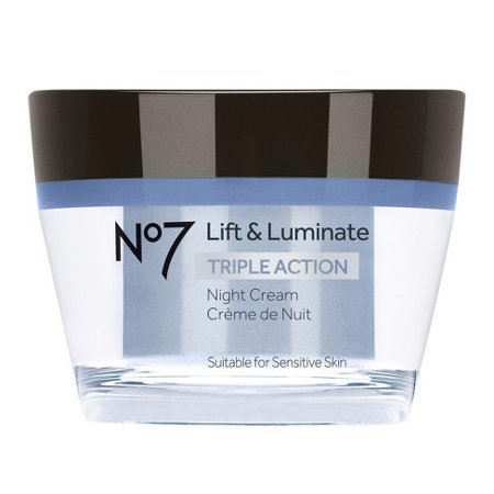 Boots No7 Lift and Luminate Triple Action Night Cream 1.6 oz (50 (Action Sublime Cream)