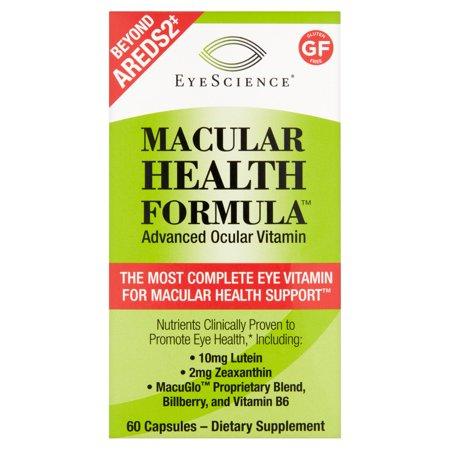 Eye Science Macular Health Formula Advanced Ocular Vitamin Capsules  60 Count