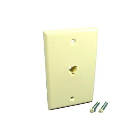 leviton almond type 625b4 telephone 4 wire phone jack. Black Bedroom Furniture Sets. Home Design Ideas