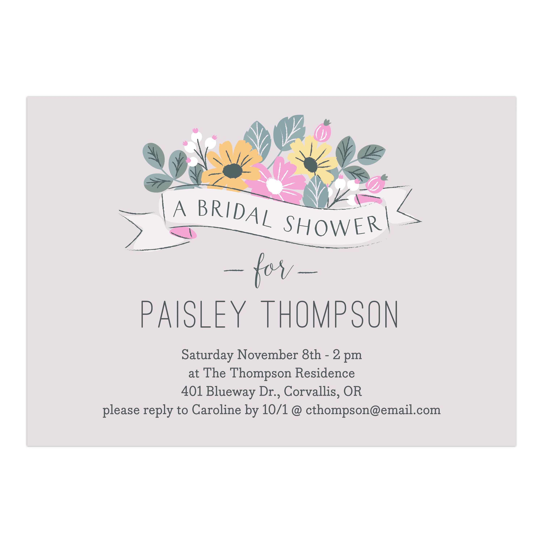 f43b1070db86 Personalized Wedding Bridal Shower Invitation - Floral Fete - 5 x 7 Flat -  Walmart.com