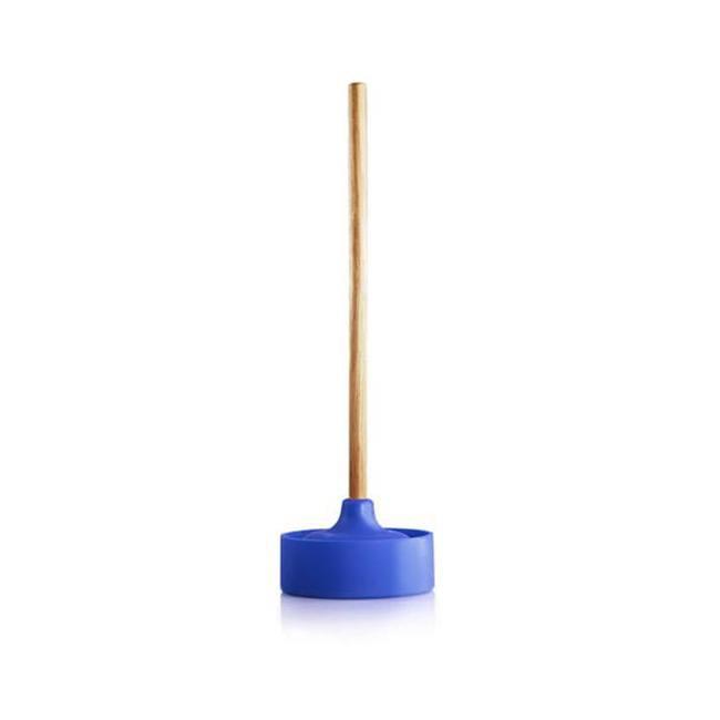 Konte WCPL4 YK Blue Silicone/Wood WC Line-Plunger